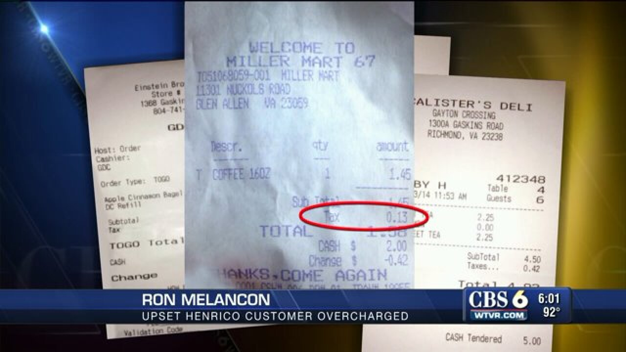 Henrico County admits customers wereovertaxed