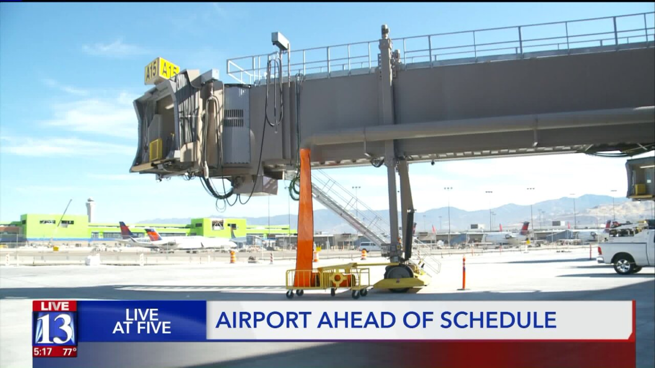 New airport ahead of schedule, one year fromopening