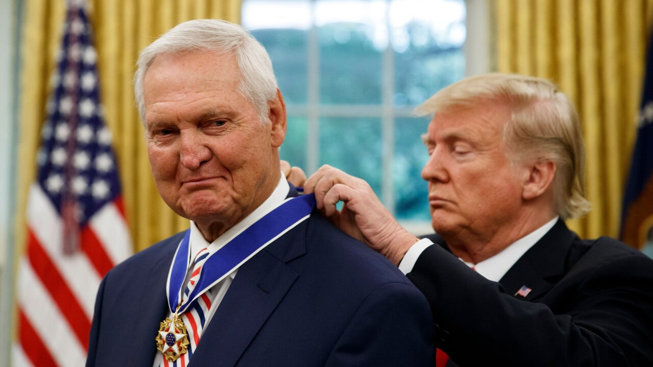 President Trump honors basketball legend Jerry West with Medal of Freedom