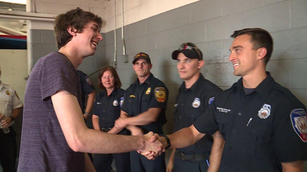 Virginia cardiac arrest survivor meets first responders who savedhim