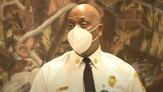 Baltimore City Fire Chief says units were sent out to Carroll Park quadruple shooting in less than one minute.png