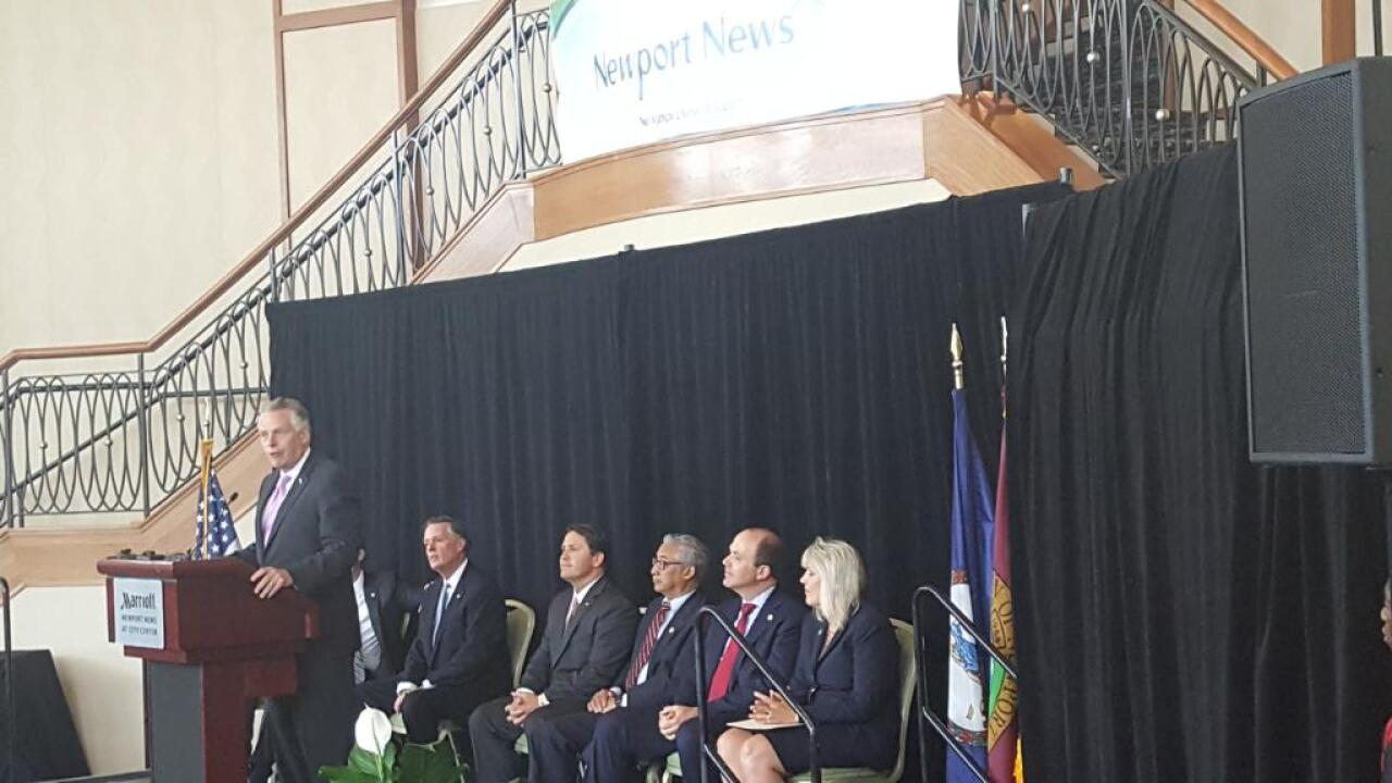 Gov. Terry McAuliffe announces Ferguson company expansion in Newport News