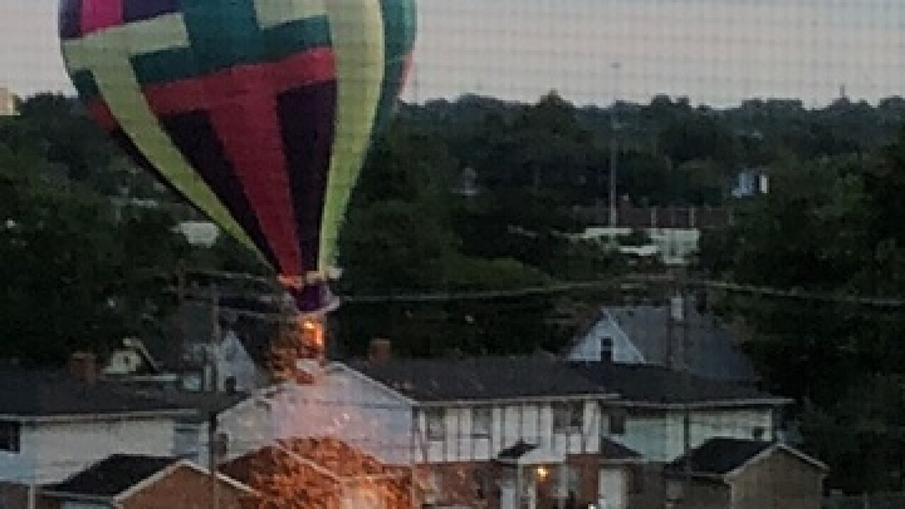 Two hot-air balloon crash land in Canton