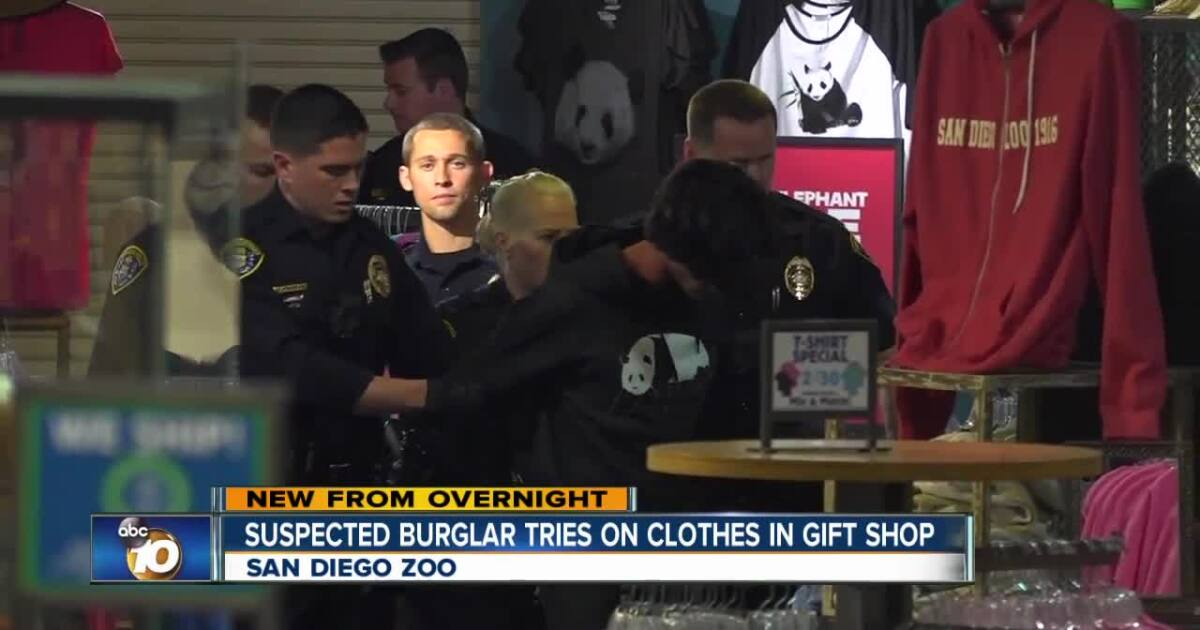 Man Breaks Into San Diego Zoo Gift Shop Tries On Clothes Before