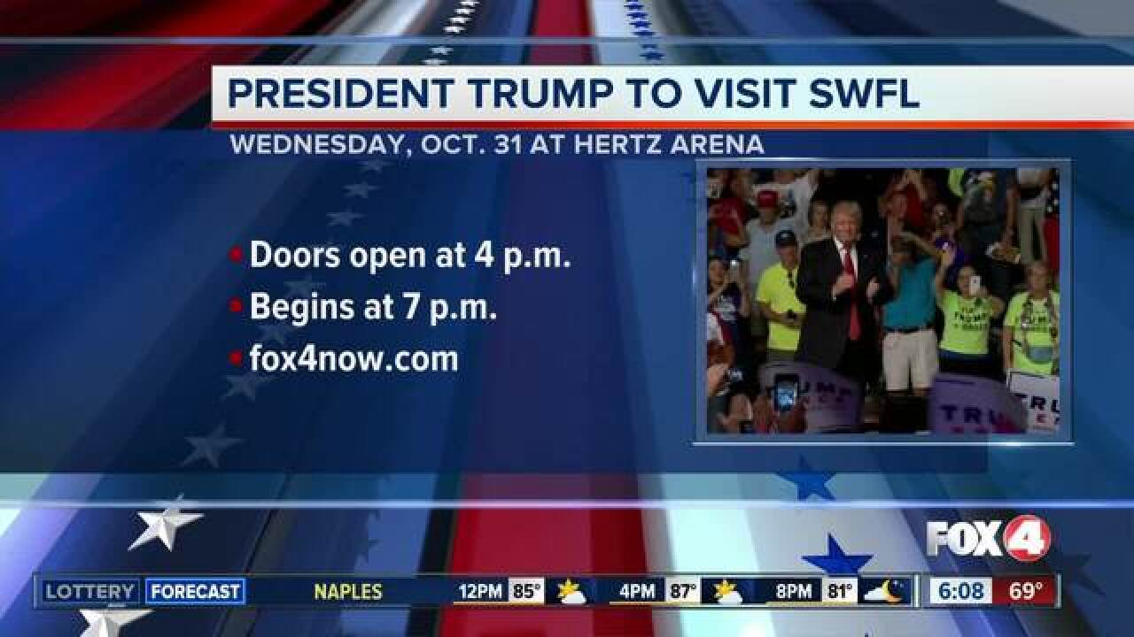 President Trump to visit Fort Myers for rally