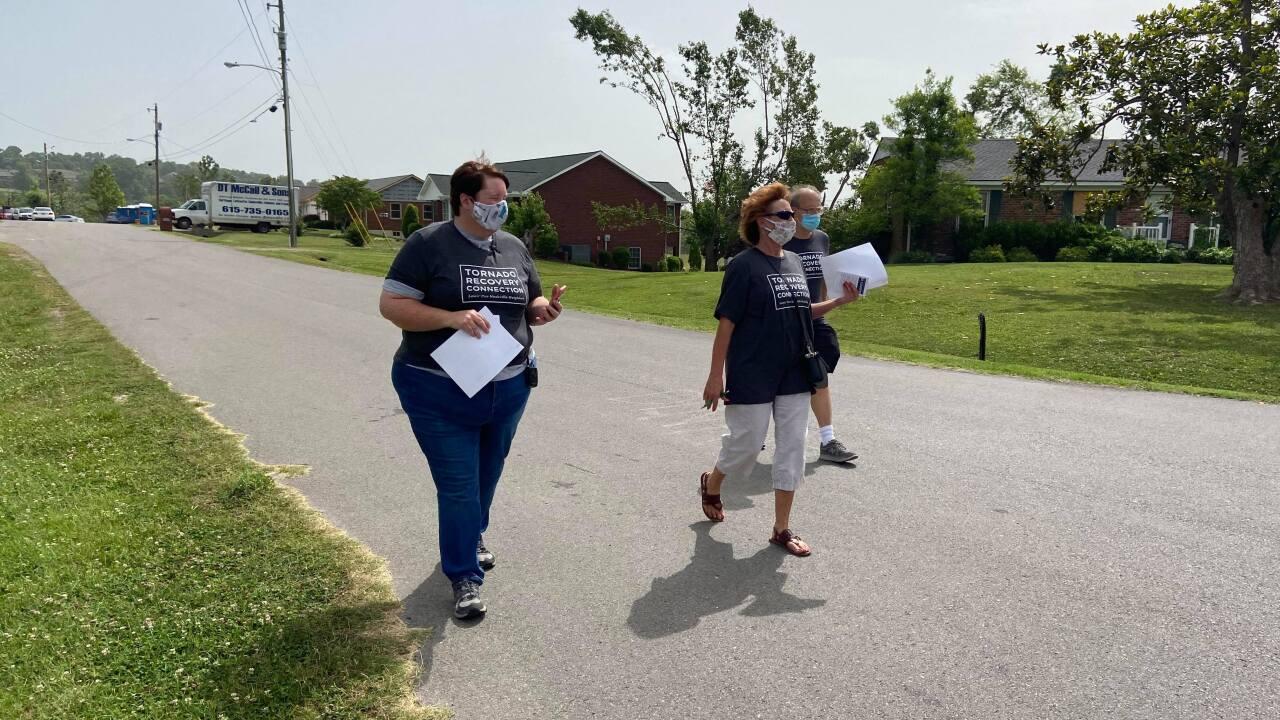Hands on Nashville tornado canvassing