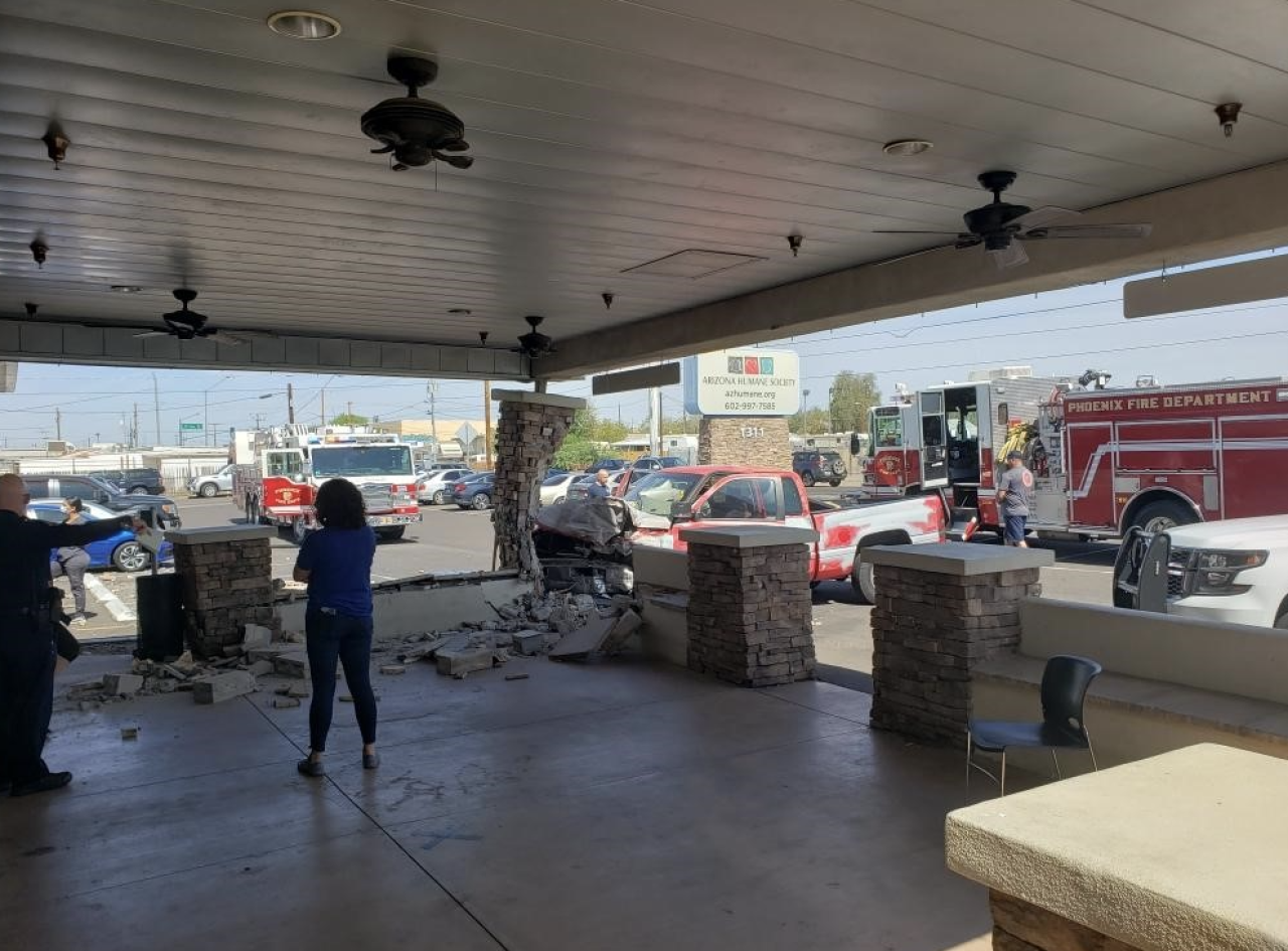 Truck Crashes into Arizona Humane Society