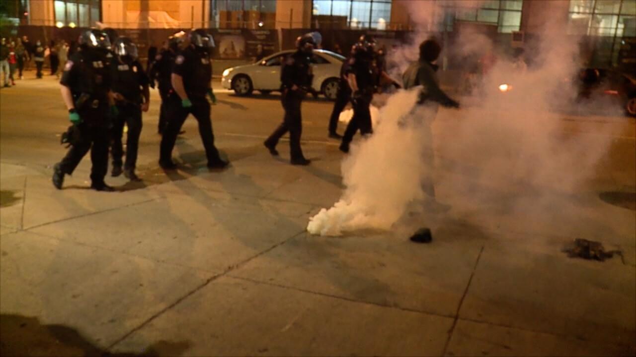 GR Peaceful Protest Turned Violent Timeline