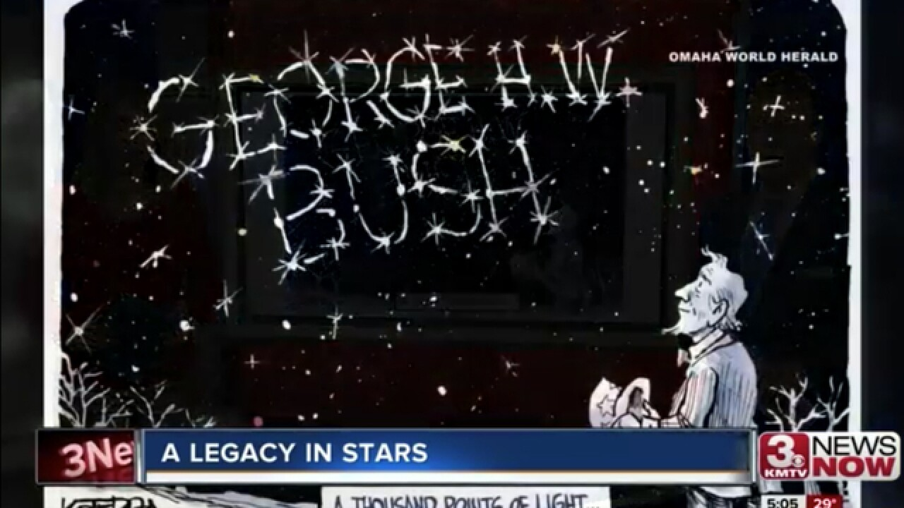 This Nebraska cartoonist is getting national attention for his illustrated tribute to Bush
