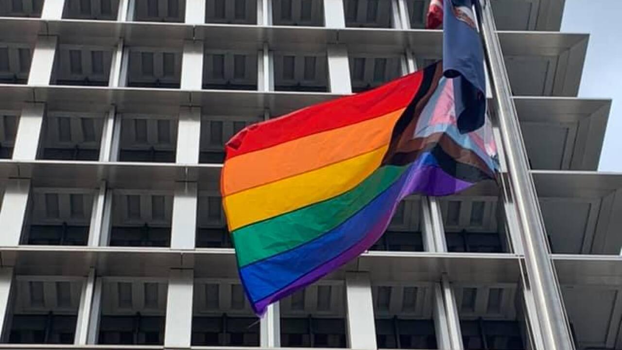 'Progress Flag' raised in honor of LGBTQ Pride Month