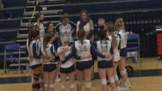 TCA volleyball sweep Falcon for Metro North League title