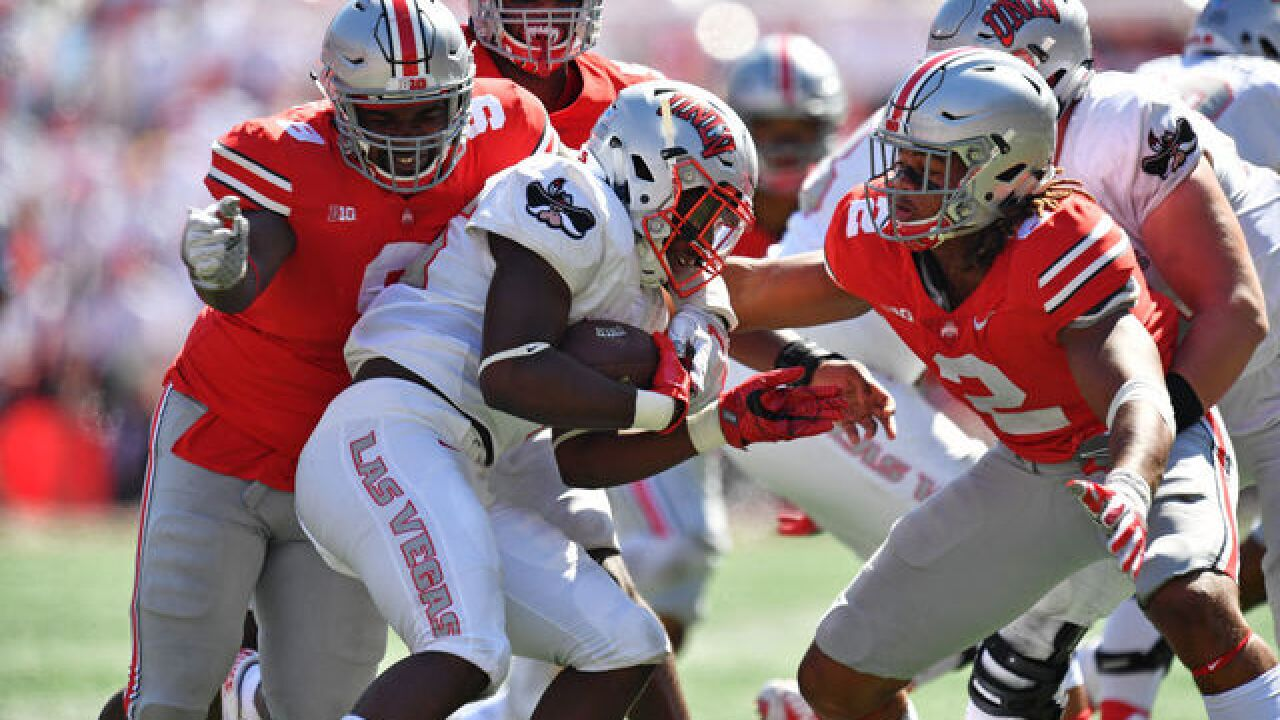No. 10 Ohio State takes care of business, swamps UNLV 54-21