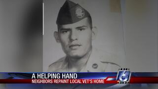 Hometown hero receives a helping hand from his neighbors
