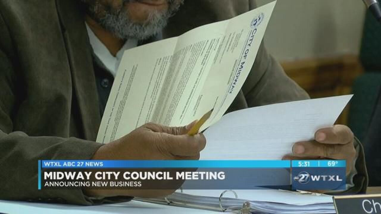 City council discusses new business coming to Midway