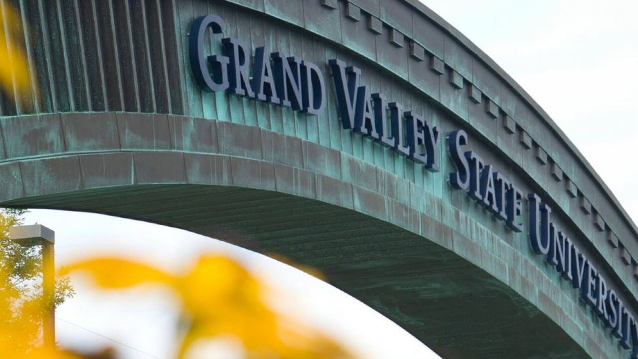 Grand Valley State University gateway arch file photo