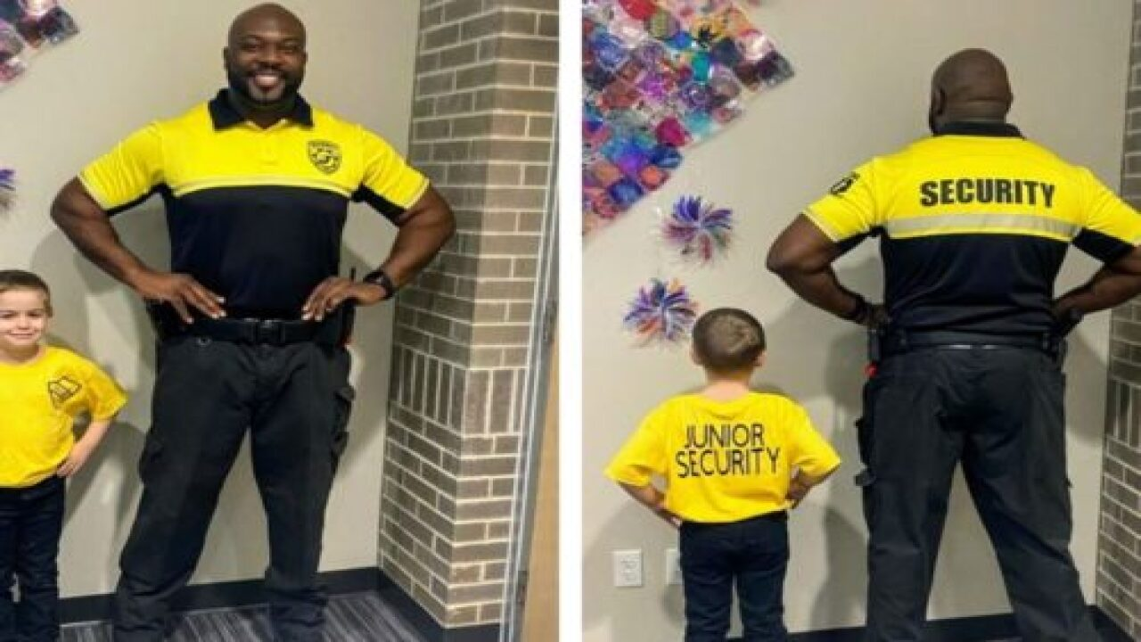 Kindergartner Dresses As School Security Guard On 'Dress As Your Favorite Person Day'