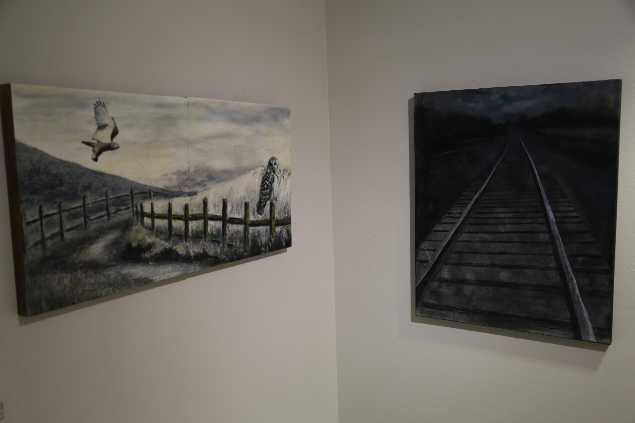 Art from inside the Walker's Point Center for the Arts.