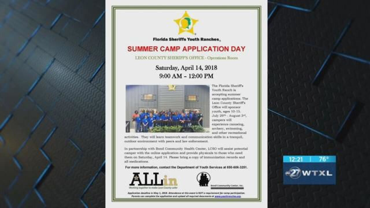 LCSO encourages youth to sign up for Camp Caruth