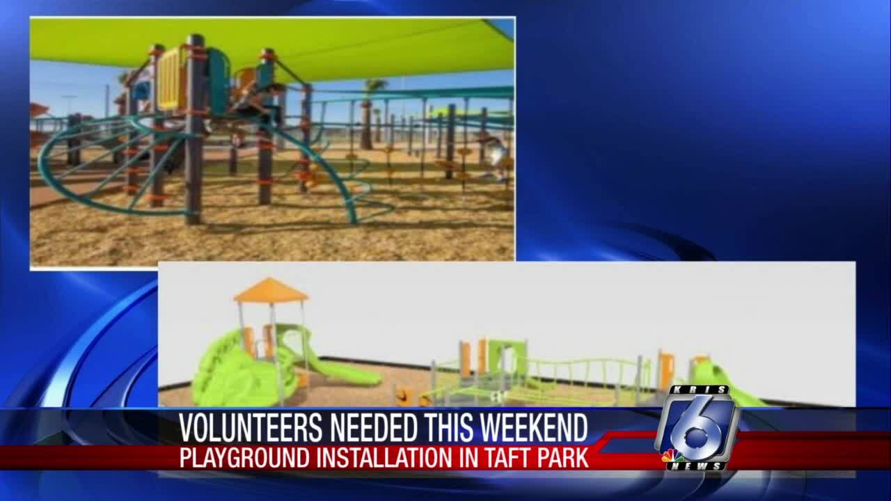 Taft playground equipment installation