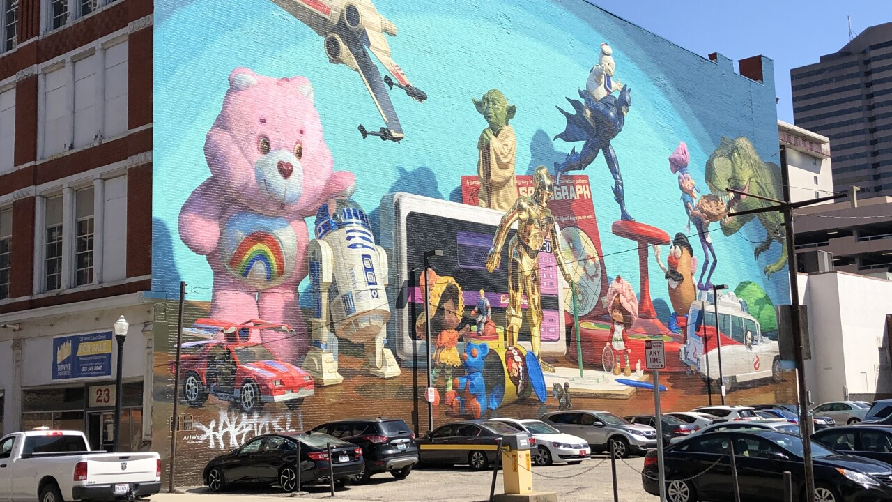 Toy Heritage Mural is defaced