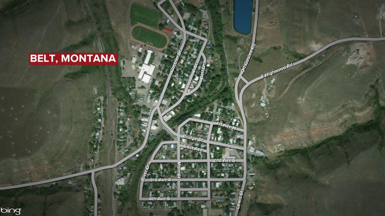 belt montana map
