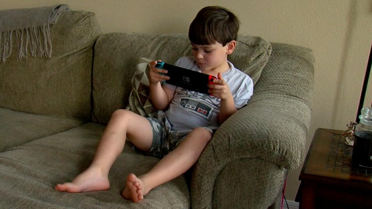Sal Tomasino playing Nintendo Switch