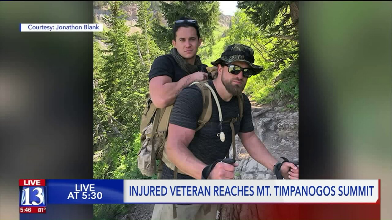 Veteran carries fellow Marine up Mount Timpanogos