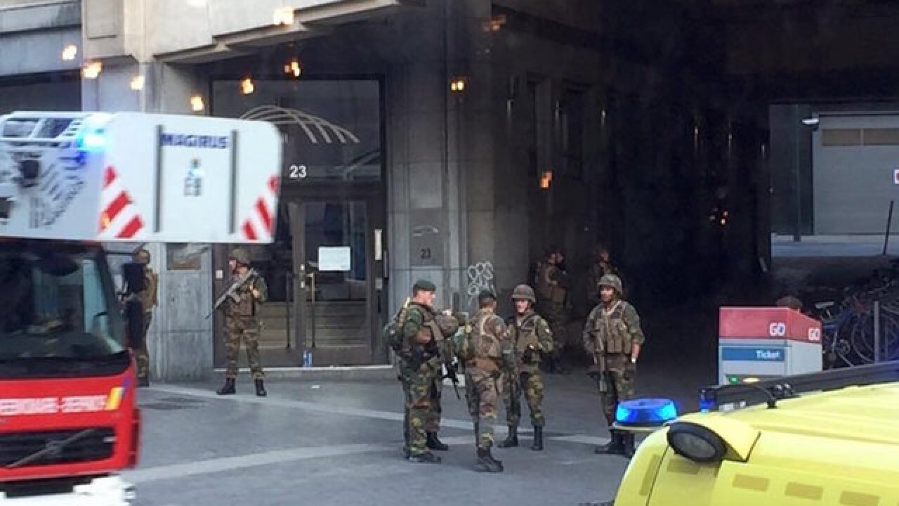 Explosion heard at Brussels train station