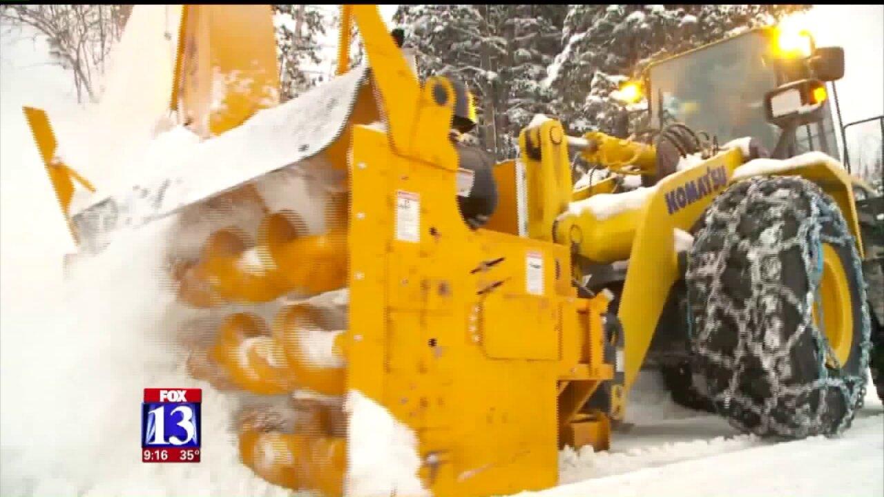 Park City trucks away snow to make room for Sundance Film Festivalparking