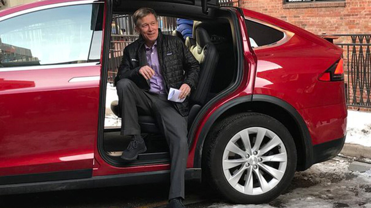 Hickenlooper unveils new plan for Colorado's electric vehicle future