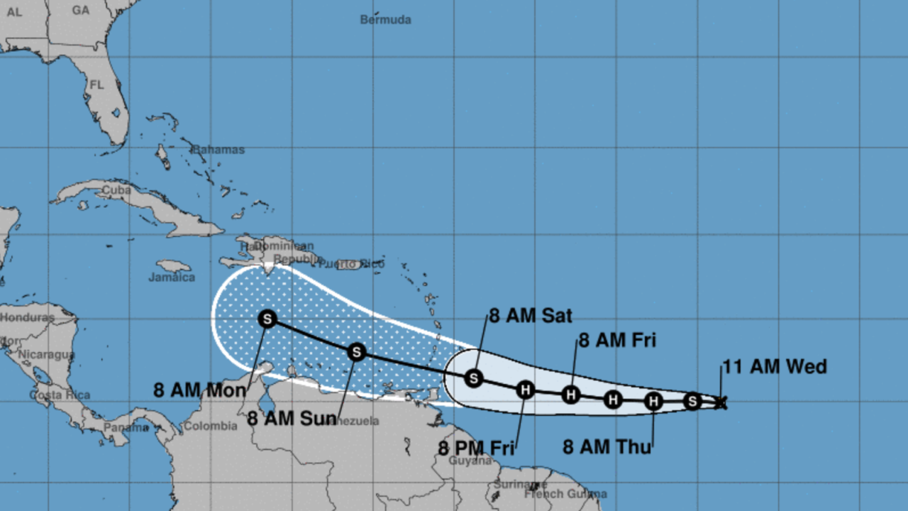 Tropical Storm Gonzalo forms in Atlantic, breaking record as earliest 'G' storm