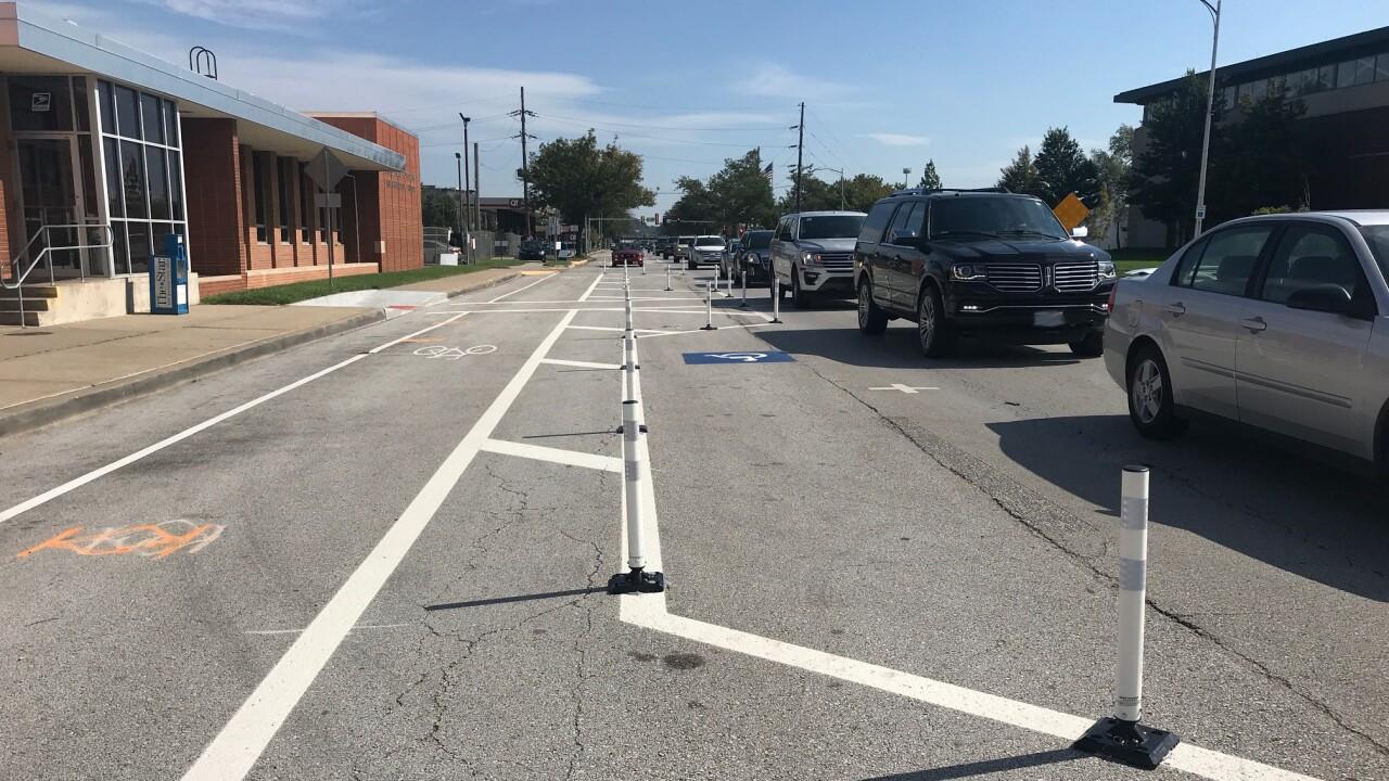 Armour Road NKC bike lanes
