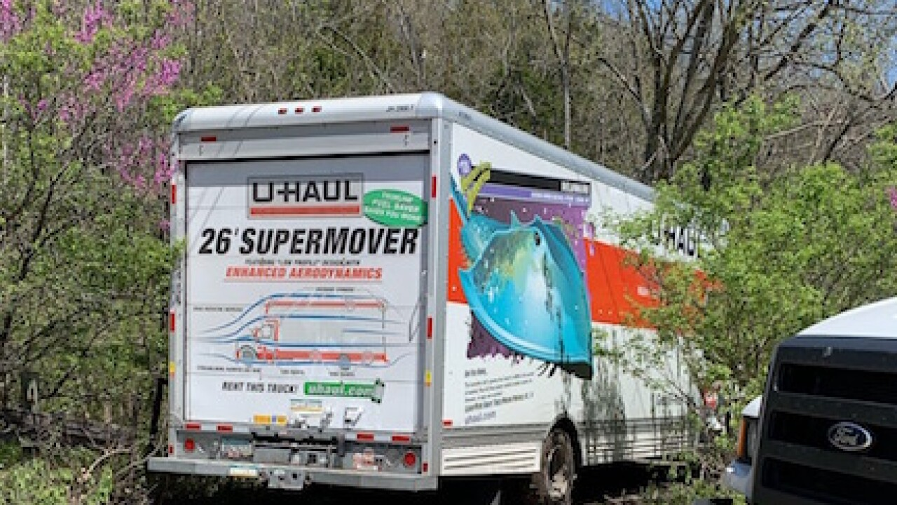 Family's stolen U-Haul recovered in woods, KCPD says