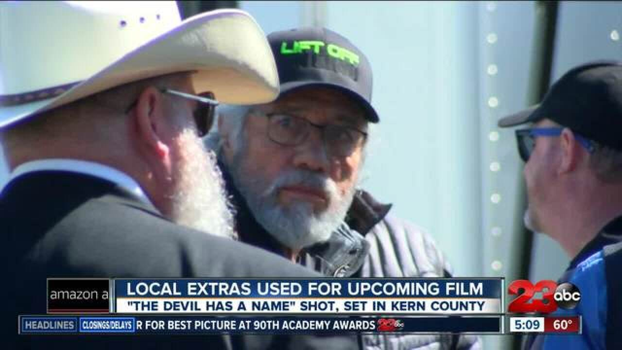 Locals used in filming of upcoming movie