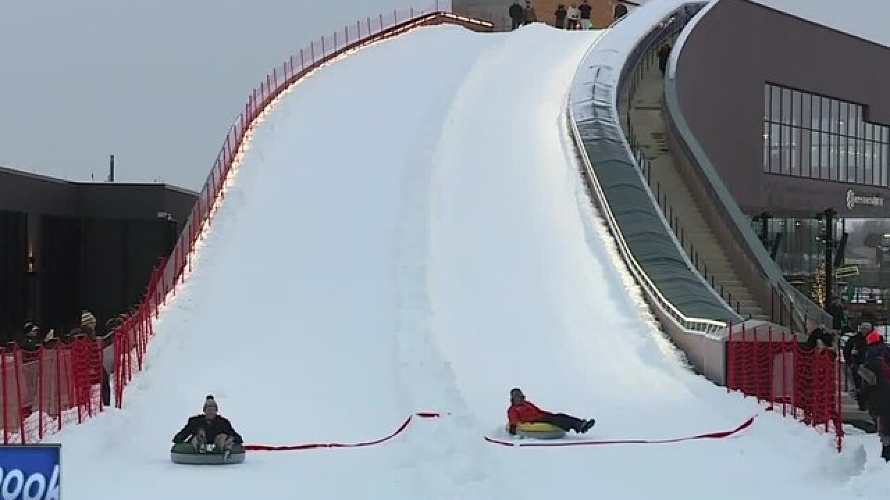 Tubing hill at Titletown District opens