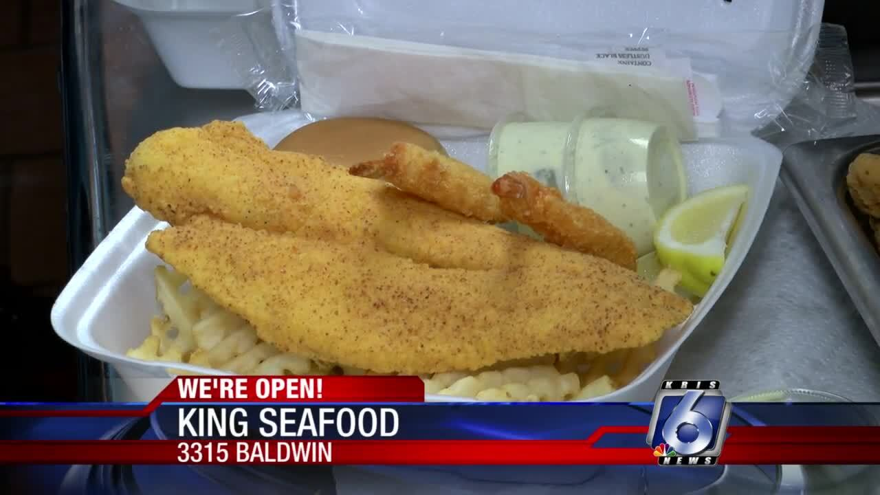 Fried flounder at King Seafood