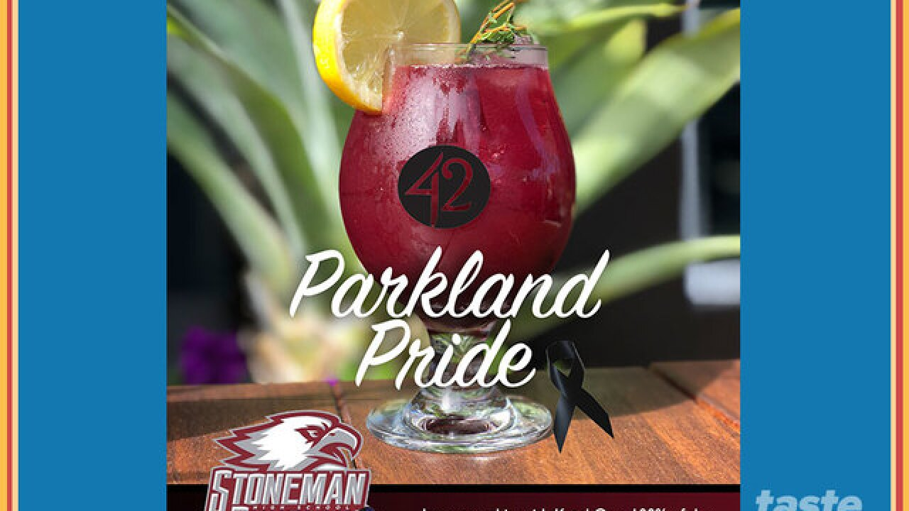 100% of the Parkland Pride cocktail proceeds to benefit Stoneman Douglas Victims Fund