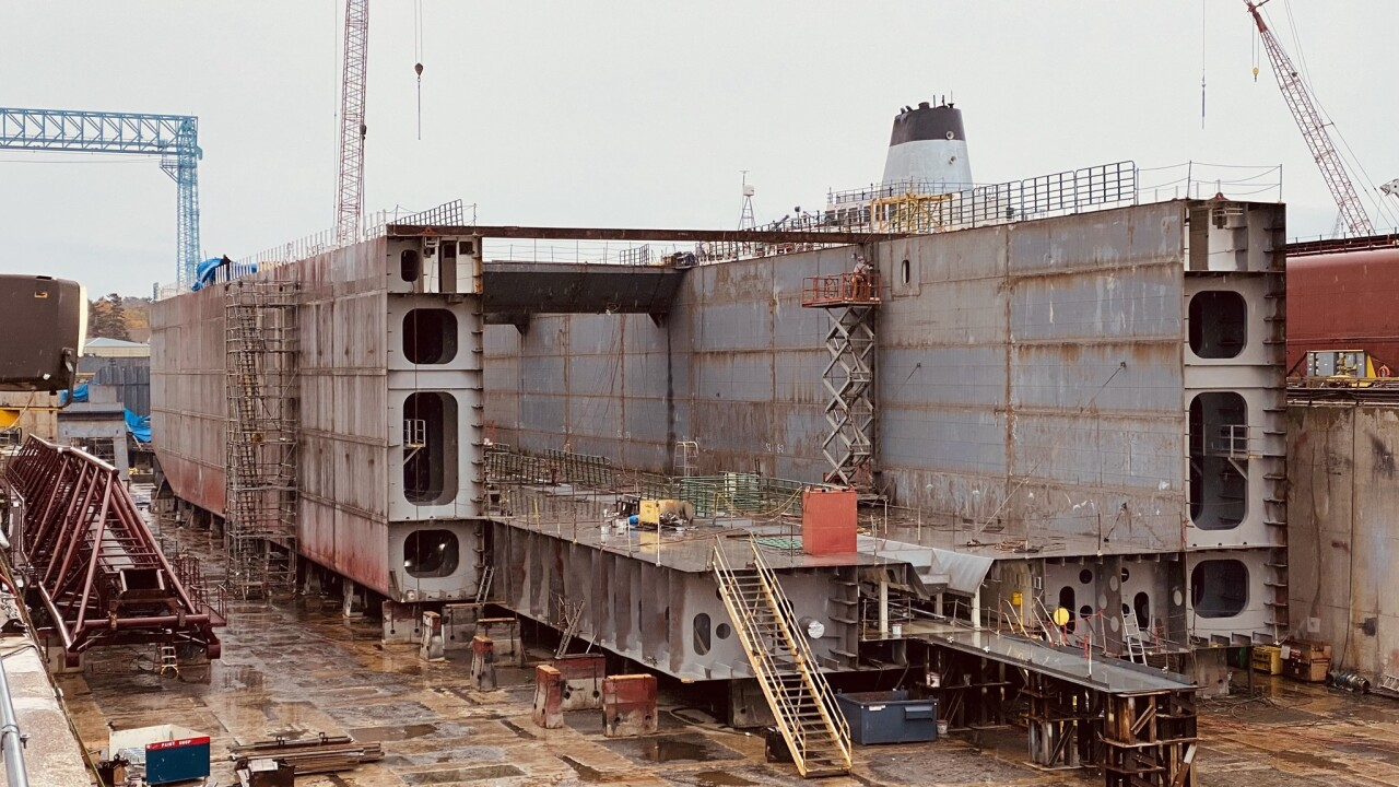 Photos: Construction continues on first ship to be built on the Great Lakes in 35 years