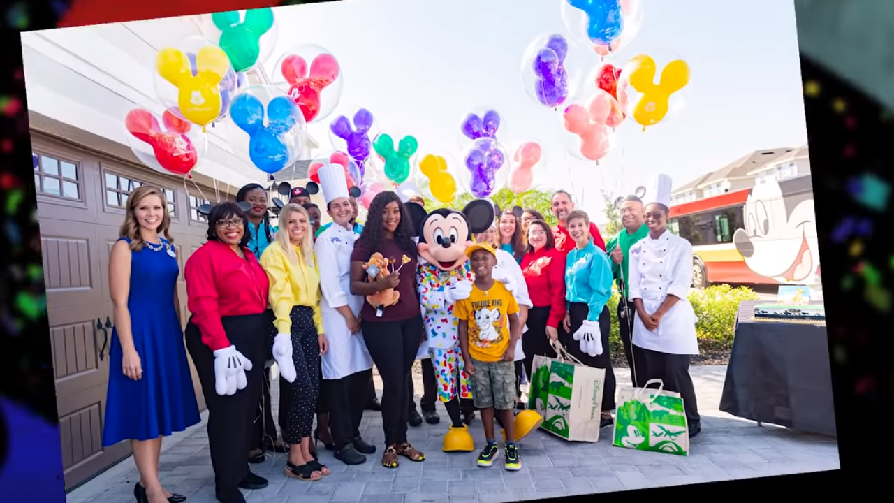 Boy who spent birthday trip money to feed Hurricane Dorian evacuees surprised with Disney trip
