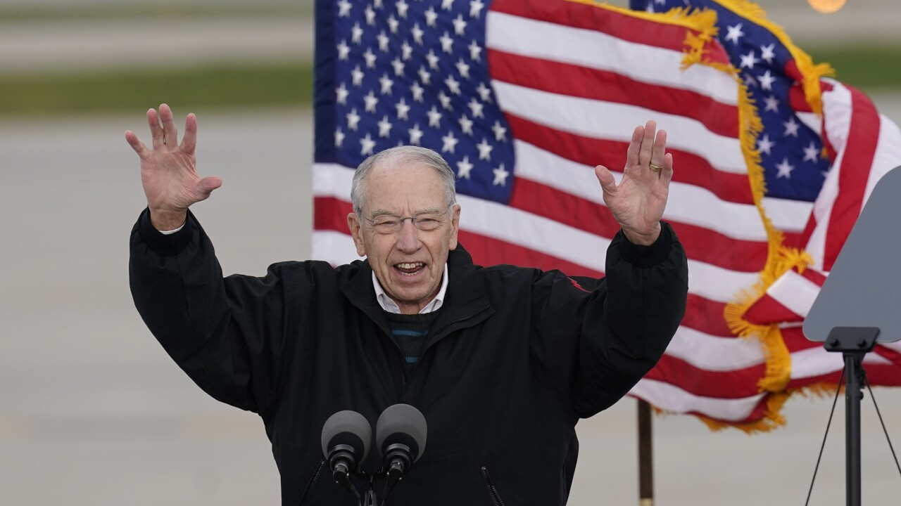 Oldest GOP Senator Chuck Grassley confirms he tested positive for coronavirus