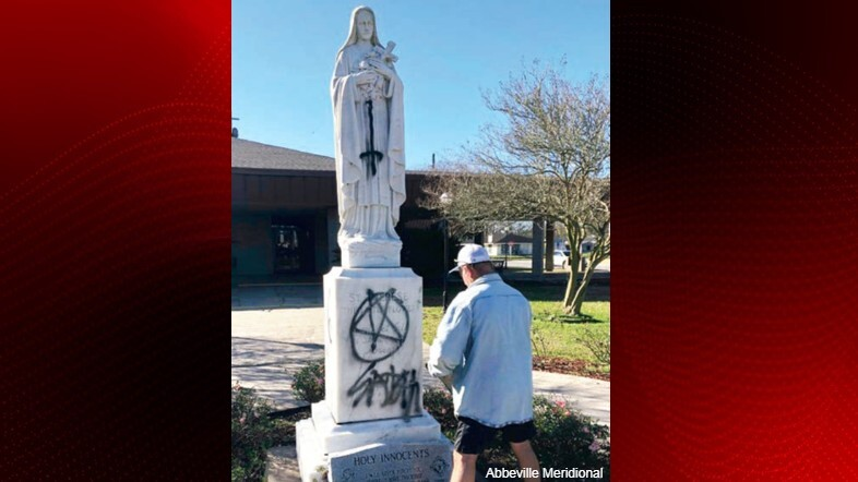 St. Theresa Catholic Church statue vandalized