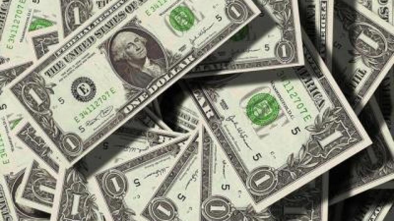 $1 bills in a big pile