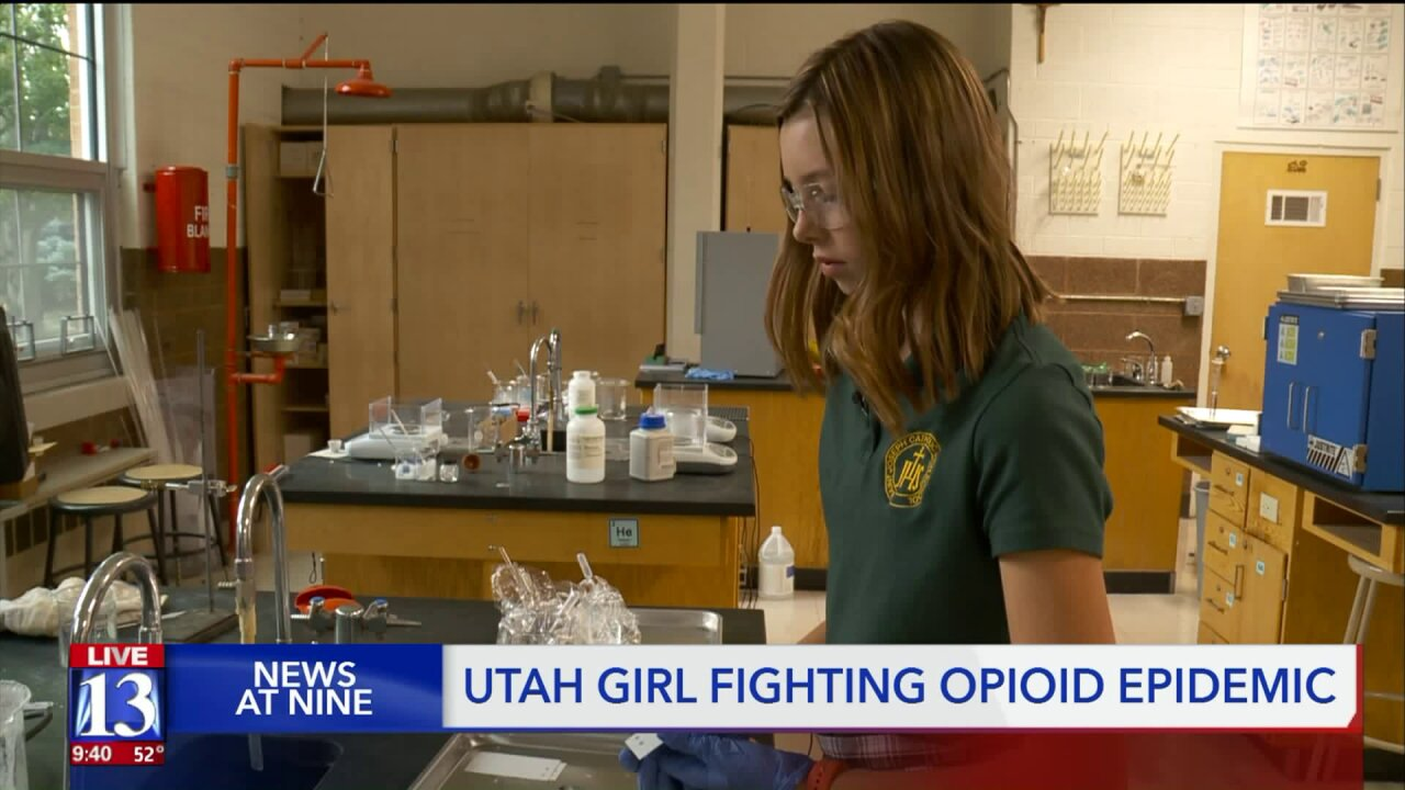 Ogden teen fights opioid epidemic with science fair project, gets national recognition
