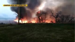 Lame Deer house fire burns 1,700 acres