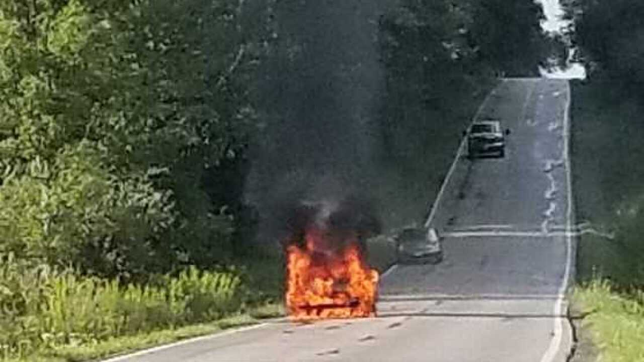 Hiram woman 'scared to death' as her Kia car caught fire