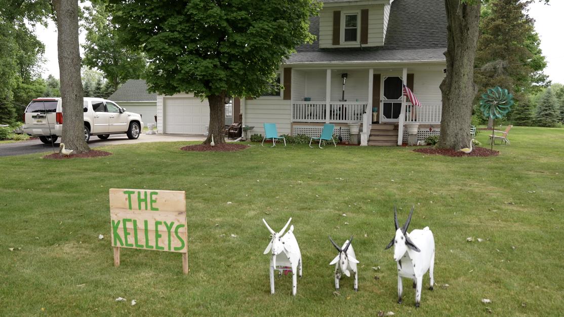 The Kelleys' farmhouse
