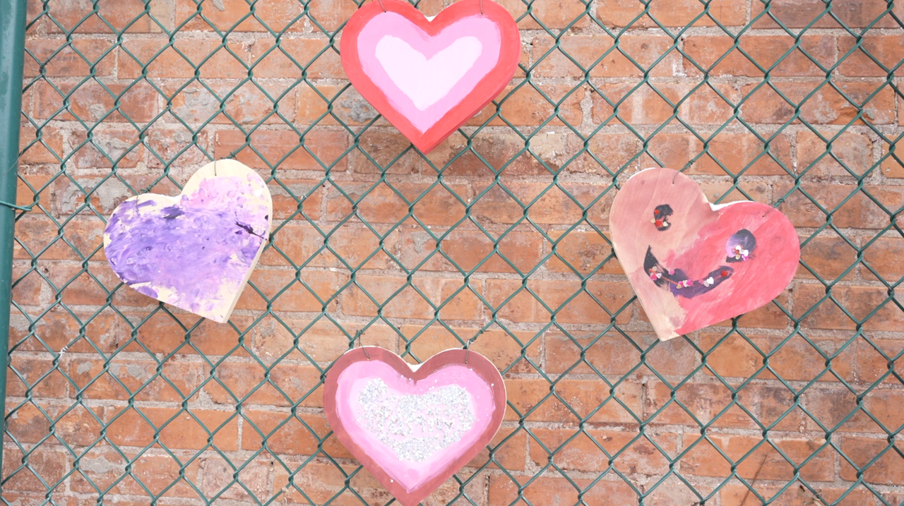 Heart wall aims to spread love this Valentine's Day season