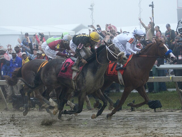 Justify wins Preakness, mud, reverie, and more from Pimlico
