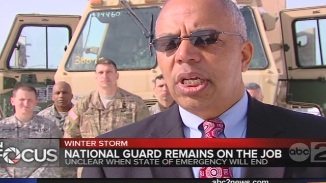 Md. National Guard troops on-duty following snow