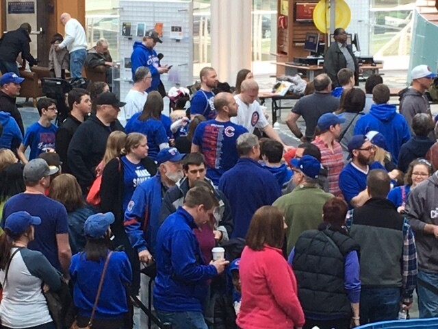 PHOTOS: Cubs world series trophy comes to Indy